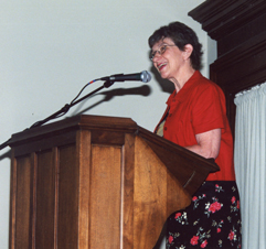 Patti at Chatauqua 2001